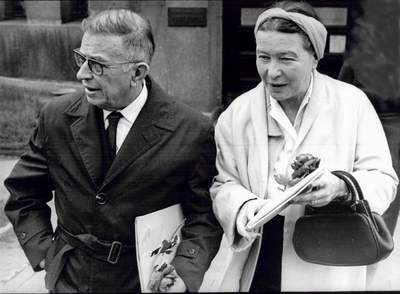 Simone de Beauvoir and Jean Paul Sarte