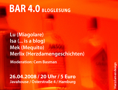 Bar 4.0 Bloglesung im <a href=