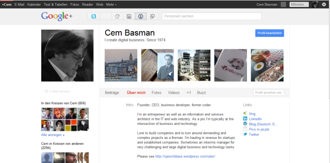 Cem Basman at Googleplus